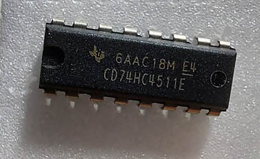 7-Segmentanzeige-Treiber 74HC4511